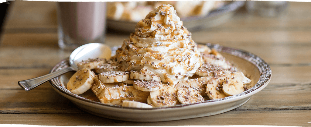 Try the legendary Banoffee sweet waffle at The Wafflehouse