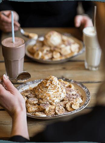 Banoffee waffle