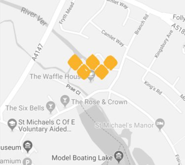 Map of the Wafflehouse, St Albans